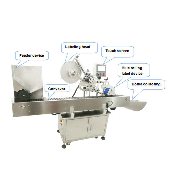 Mašina za automatsko samolijepljenje naljepnica male okrugle boce od 10 ml