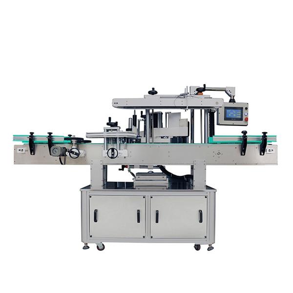 Automatska mašina za etiketiranje dvostranih naljepnica za ovalne i ravne boce šampona
