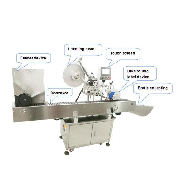 Potpuno automatska mašina za nanošenje naljepnica na bocama s CE certifikatom
