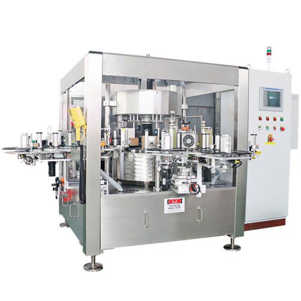 Stroj za etiketiranje jednokratnih rotacijskih naljepnica sa bocom soka za pivo