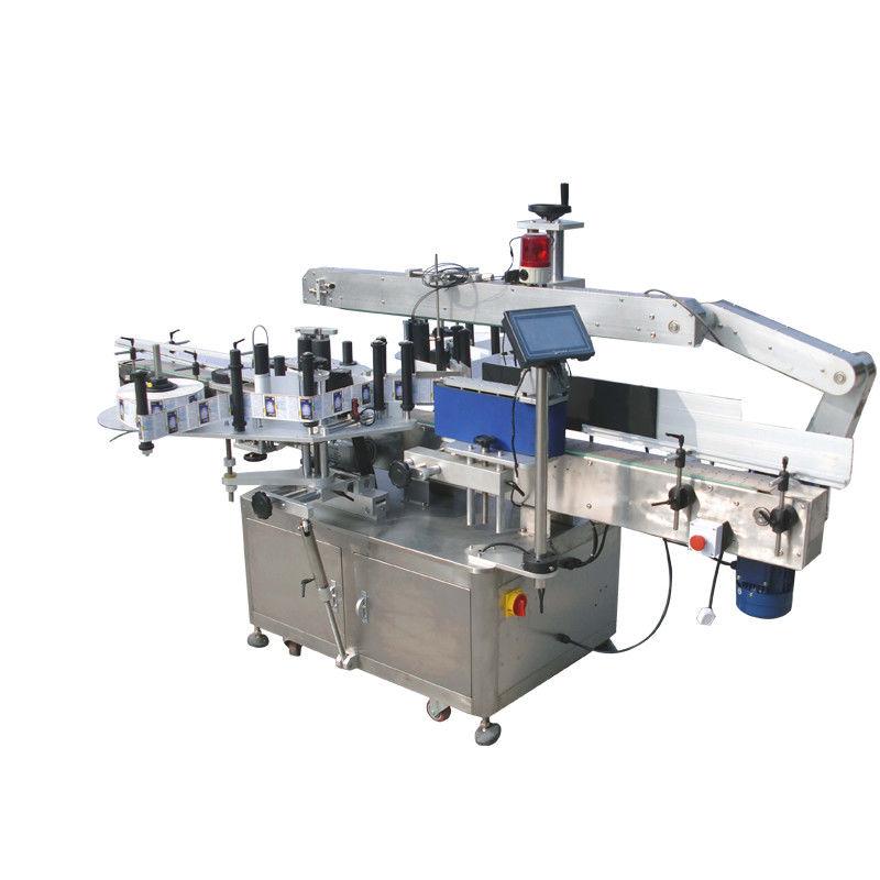 Mašina za etiketiranje dvostranih naljepnica s okruglim bocama za piće, hranu, kemikalije