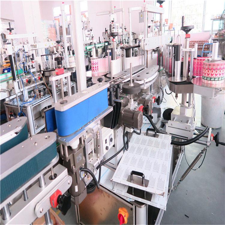 Dvostrana mašina za etiketiranje boca za razne staklenke sa ravnim kvadratnim bocama