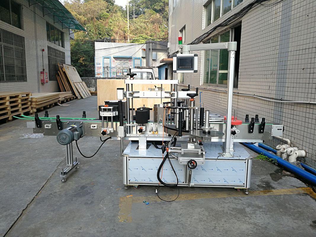 Automatska mašina za etiketiranje ravnih boca naljepnica integrirana sprijeda i straga