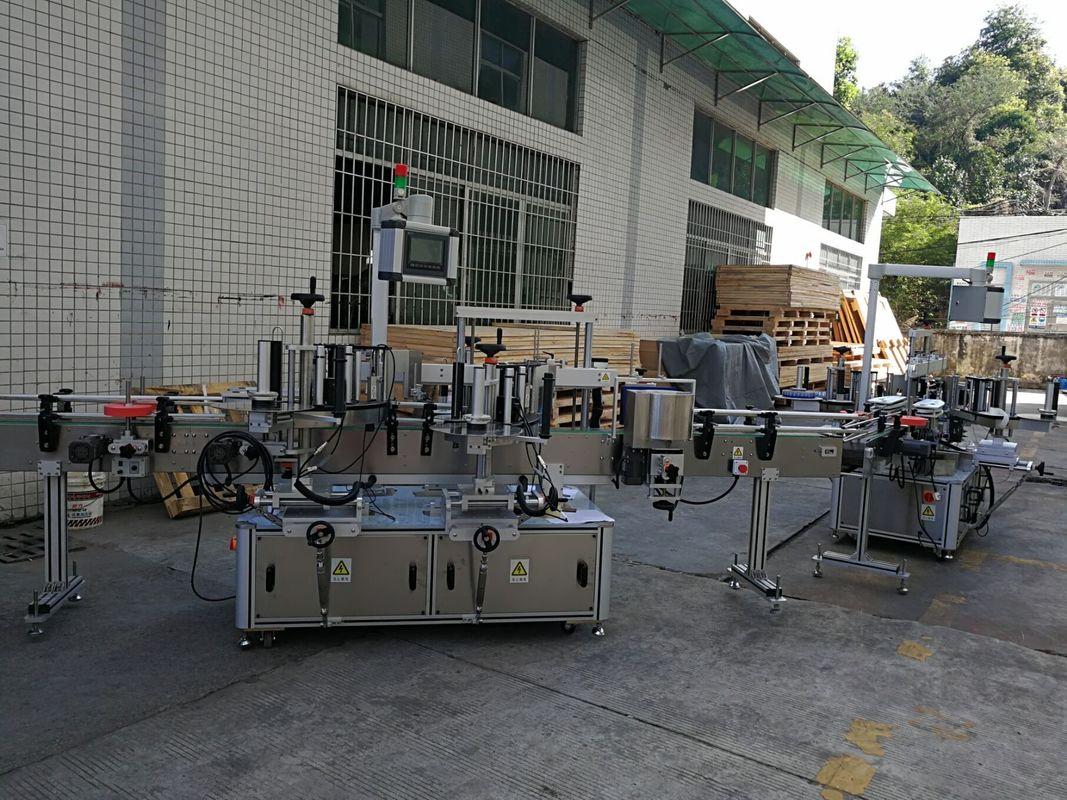 Mašina za etiketiranje naljepnica s ravnim / kvadratnim bocama Potpuno automatski kapacitet 5000-8000B / H